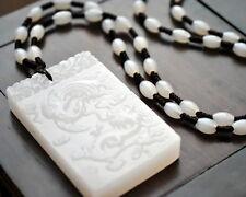 Amulett Drache & Phoenix Jade-Anhänger mit Halskette Schmuck Unikat CHINA