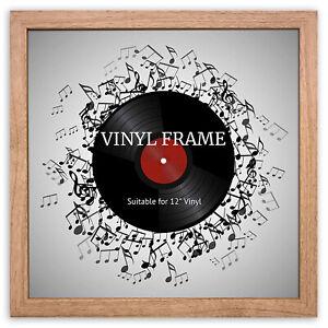 "12"" LP Vinyl Record Frame Square Oak Memorabilia Oxford Wall Album Art Display"