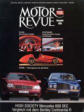 Motor Revue 1993 600 SEC SL 911 Turbo Caterham Ferrari 512TE Dodge Viper Bentley