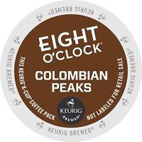 EIGHT O'CLOCK COFFEE 100% COLOMBIAN 96 K CUPS