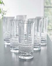 Vintage Set of 6 360 ml Crystal Cut Hi-Ball Glasses Cocktail Juice Bear Drink