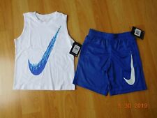NIke boys T shirt and shorts outfit size 7 NWT