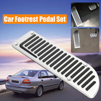 Silver Car Rest Fuel Brake Footrest Pedals Cover For Volvo V60 XC60 V70 XC70 S80