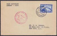 DR Mi Nr. 438 EF sauber Zeppelin LZ 127 Südamerikafahrt Karte - New York 1930