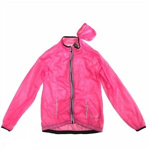 New INOC Ultra Light Pink Cycling Jacket Size Medium With Tag Women Outerwear