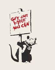 Banksy Get Out While You Can Canvas Print 16 x 20      #3467