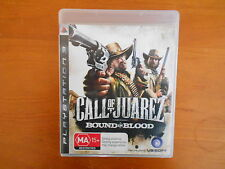 PS3 GAME CALL OF JUAREZ BOUND IN BLOOD WITH MANUAL V GD COND - FAST POST