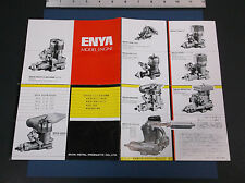 "VINTAGE ENYA MODEL ENGINE BROCHURE PLANE HELI  4-STROKE 14 ""W  X 10"" T *G-COND*"
