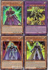 Yugioh Legendary Dragon Knight Set - Hermos Critias Timaeus - Lot