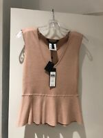 BCBG MAXAZRIA Alonya Peplum Top Size S. Bare Pink. New With Tags! Free Ship!