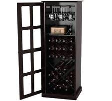Wine Bar Cabinet Kitchen Room Liquor Glass Stand Bottle Rack Storage Pub Den NEW