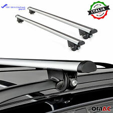 Roof Rack Cross Bars Luggage Carrier Silver Fits Kia Sportage 2000-2005