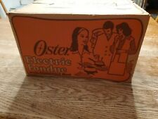 Oster Electric Fondue Set Electric Flame New, Sealed Model 691-17 Vintage