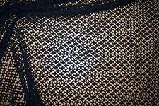 Netzjersey Stoff Lochmuster dunkelblau Baumwolle #0558
