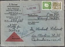Berlin MiNr. 158 + 183 ° MiF Brief Nachnahme vom Gerichtsvollzieher Berlin SW 11