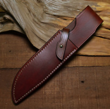 knife blade sheath cover scabbard case bag cow leather customize brown Z1008