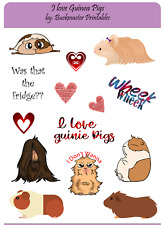 New ListingGuinea Pigs Cute Sticker Sheets For Planners, Scrapbook Stickers