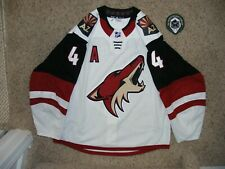 Arizona Coyotes # 4 Niklas Hjalmarsson 18/19 Away Game Used Tc Set Jersey w/ Loa