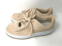 Nike Womens 9 M BEIGE Air Force 1 Sage Low LEATHER Basketball Sneakers Shoes AF1