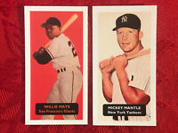 MICKEY MANTLE & WILLIE MAYS BASEBALL CARDS-VERY RARE U.K.ISSUE-2 CARD LOT-MINT
