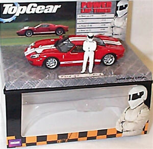 Ford GT Red White Stripe Top Gear power Laps New in Box ltd edition 1-43 scale