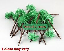 """DIORAMA PALM TREE SET 2 TREES PER PACKAGE 5.25"""" for NATIVITY-FAIRY GARDEN-TRAINS"""