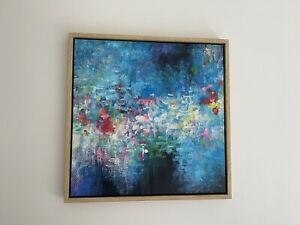 Abstract Painting Framed 635mm X 635mm X 50mm