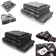 Wash Monkey® Handtuch Set 5 tlg. Waschlappen Gästehandtuch Handtücher Badetuch