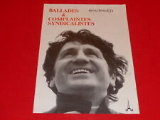 COLL.J. LE BOURHIS AFFICHES / MOULOUDJI CHANTS SYNDICALISTES 1973 ANGERS AMCA