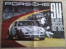 Porsche 911 The Shape Of Success Brochure Poster 1963-2013