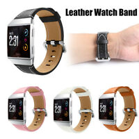 Replacement Leather Sport Watch Band Wristband Strap Bracelet For Fitbit Ionic