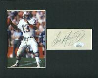 Dan Marino Miami Dolphins Pittsburgh Panthers Signed Autograph Photo Display JSA