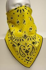 yellow bandana lined bandana mask scarf fierce face protection copd