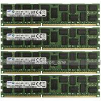 Samsung 32GB 4x8GB 2Rx4 PC3-12800R DDR3 1600Mhz 240Pin ECC REG Server Memory RAM