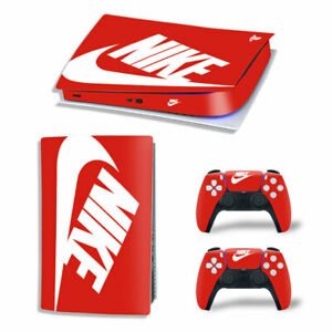 Vinyl Nike Design Skin Decal Sticker for PS5 Console Controllers - Disk Version