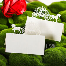 12pcs Ivory Carriage Table Name Place Cards Wedding Favour Birthday Party Decor