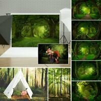 Sun-drenched Forest 3D Wall Floor Photography Background Backdrops Studio Props