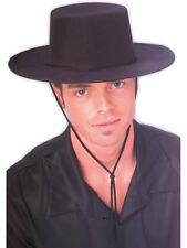 New Men's Women's Black Spanish Cordobes Bull Fighter Costume Hat