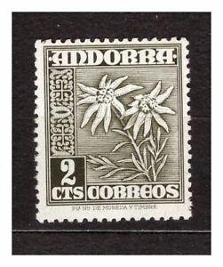 37002) Andorra Spanish 1951 MNH Definitives 2c 1v y & T 51