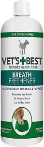 Vets Best Dental Breath Freshener Water Additive for Dogs or Best Toothbrush Dog