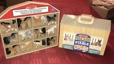 Melissa & Doug Fold and Go Stable with Free Used 12 Horse Pasture Pals Bundle
