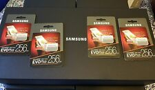 New Samsung EVO Plus 256gb UHS-I MicroSDXC Micro SD Memory Card NEW in Package