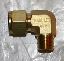 "1/2"" Tube x 3/8"" MNPT  Brass Male Elbow Fitting Ham-Let 769LB1/2X3/8"