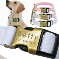 Big Dog Collar Custom Engraved Collars for Dogs Side Release Buckle Personalized