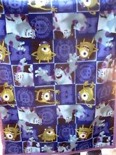 "Handmade Fleece Monster INC & U Baby Blanket Multi Color 37""x 46"" Super Soft New"