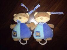 1Stück- Babydream Rossmann Teddybär Hund Bear Spieluhr Tuch Türkis blau Lalelu