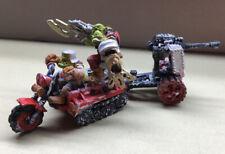 Juegos taller Warhammer 40K de espacio de plomo Orks wartrack Pintado/montado década de 1980