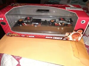 MARTIN TRUEX JR 2008 BASS PRO SHOPS 1:64 WINNERS CIRCLE DUALLY AND DIECAST CAR