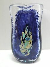 BEAUTIFUL ARTISTIC ART GLASS VASE HANDMADE IN THE CZECH REPUBLIC EXCELLENT COND.