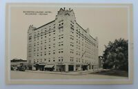 Postcard IN Indiana Richmond Leland Hotel c1920s Cars Street View Unposted